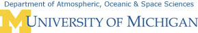 Department of Atmospheric, Oceanic & Space Sciences, University of Michigan